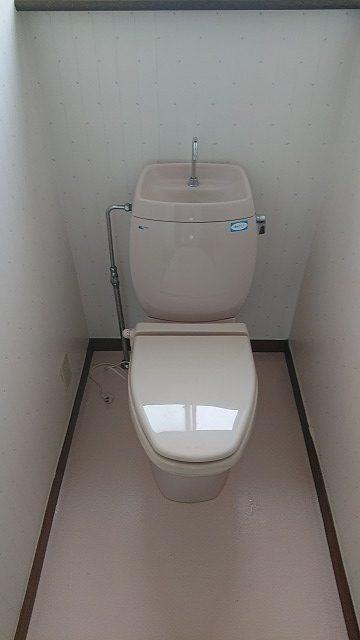 交換前のトイレの写真