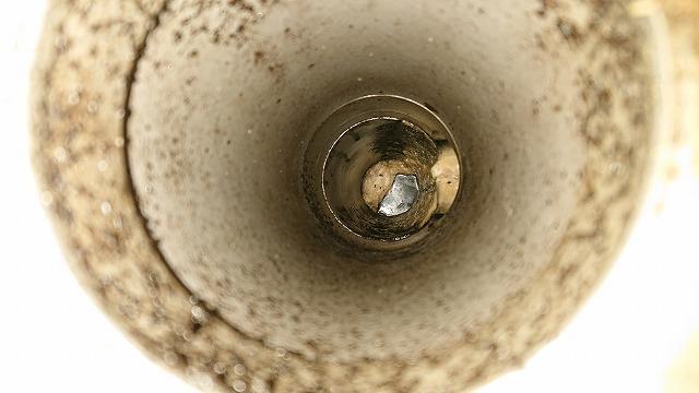 つまった排水管
